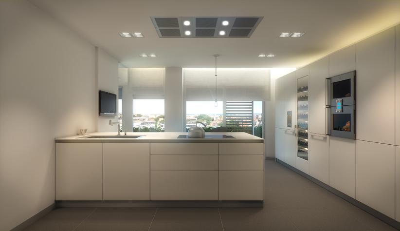 Современная элегантная кухня элитная недвижимость барселона