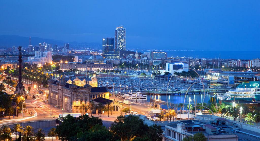 Порт Барселоны. Исторический центр Барселоны. Недвижимость в Испании.