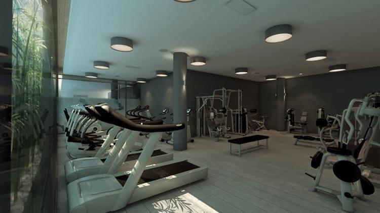 Comprar pisos de lujo en Barcelona gimnasio One Pedralbes House