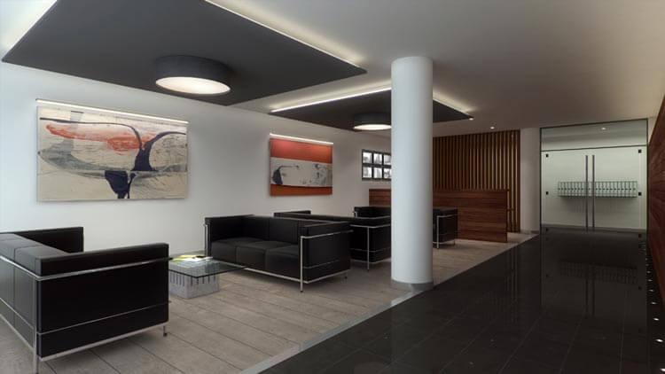 Comprar pisos de lujo en Barcelona vestibulo entrada One Pedralbes House