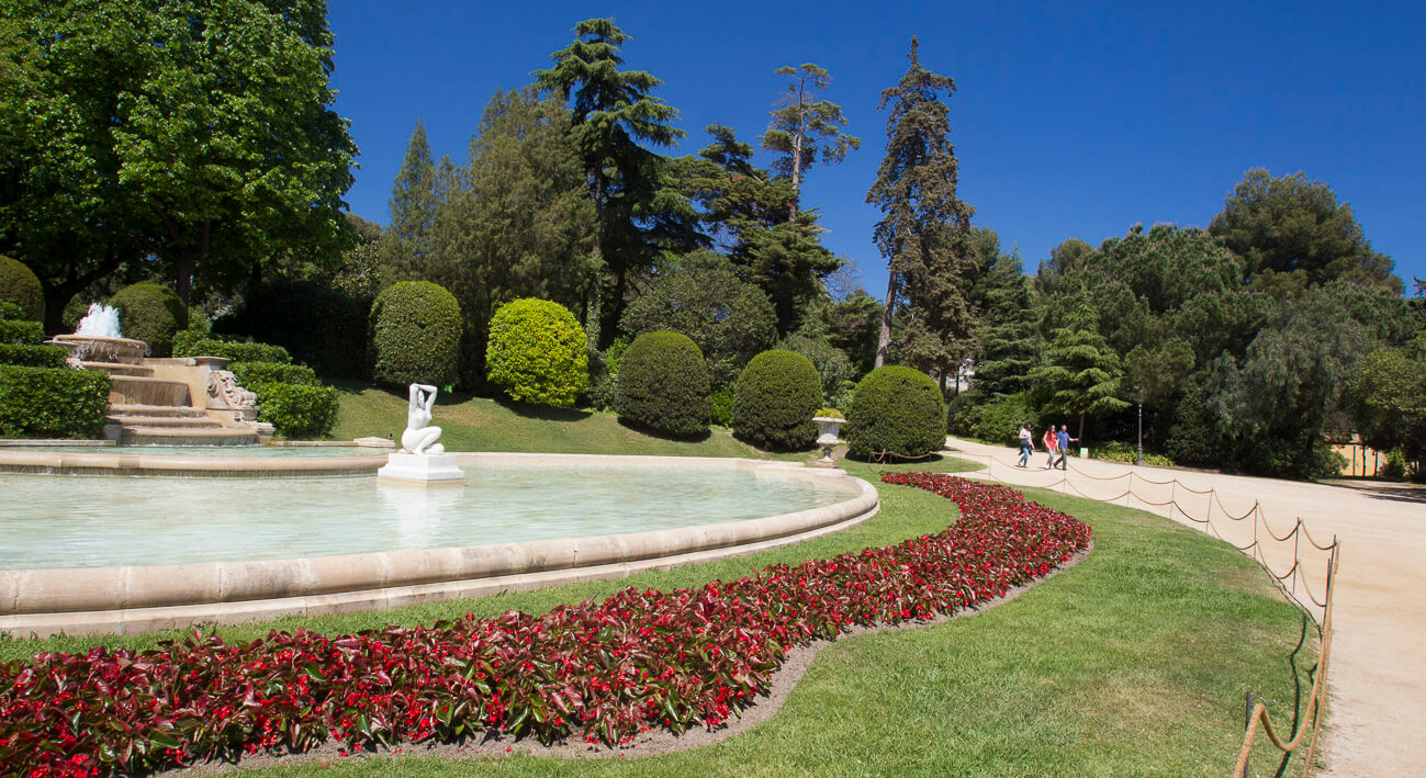 Imagen del parque del Palacio Real de Pedralbes. Parques jardines Barcelona.