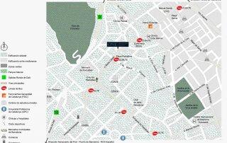 Pisos en Pedralbes, plano del barrio