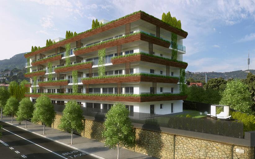 Жилой комплекс One Pedralbes House. Новая недвижимость в Педральбесе. Купить недвижимость в Барселоне, лучший район