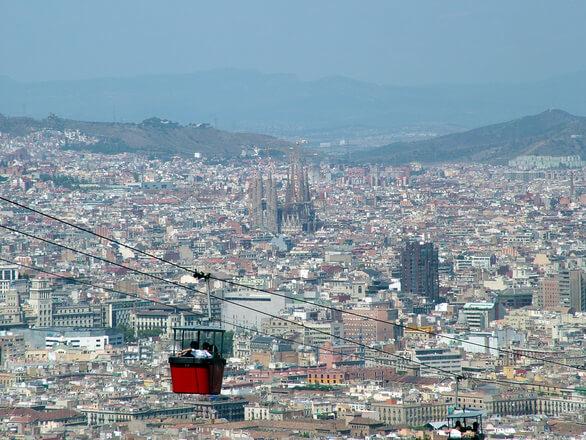 Вид с телеферика в Барселоне. Купить квартиру в Испании. Лучшие предложения