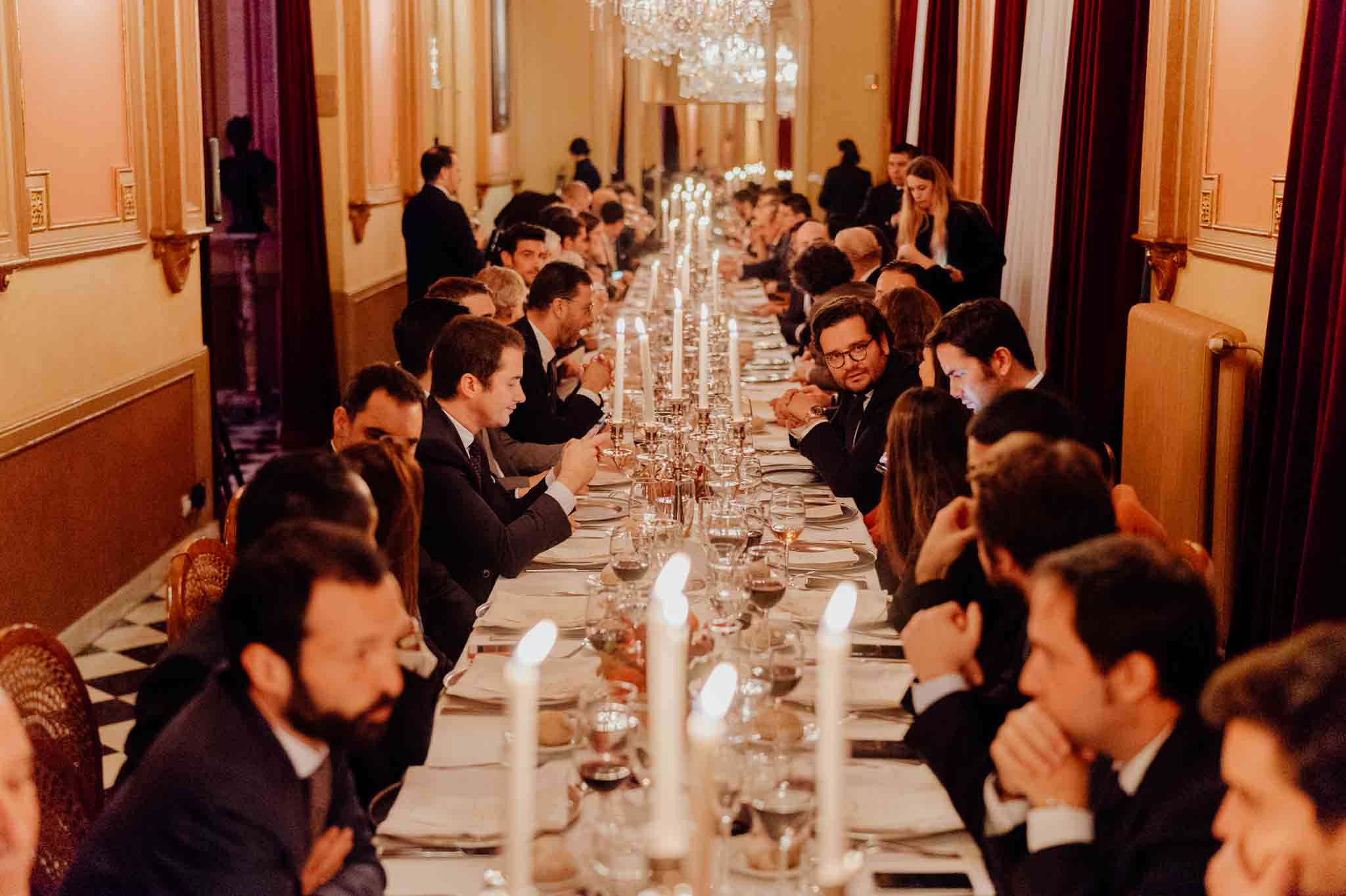 dinner in Circulo del Liceo Spanish luxury brands