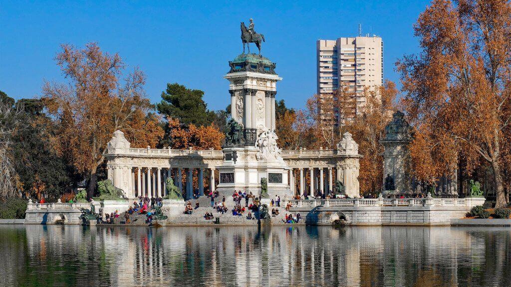 Парк Retiro в Мадриде. Купить квартиру в Испании. Недвижимость в Испании в столице