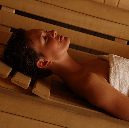 enjoy dry sauna in luxury real estate barcelona