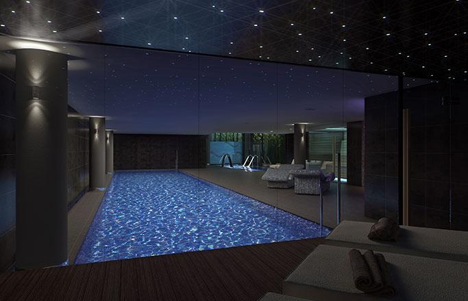 плавательный бассейн в элитной недвижимости в Барселоне